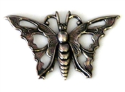 1pc antique silver charm open butterfly 35x30mm