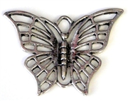1pc antique silver charm butterfly 40x30mm