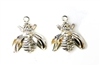 4pc silver plated bug charms