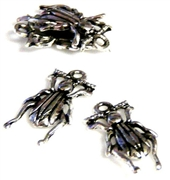 20pc antique silver bug charms