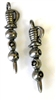 1pc antique silver pewter charm martinis & olives stick