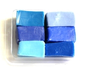 6pc clay assortment packet blue