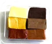 6pc clay assortment packet brown