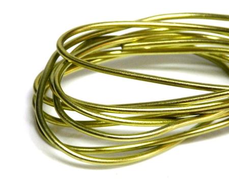 2mm Coloured Wire Light Green - 1m length
