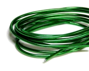 2mm Coloured Wire  Green - 1m length