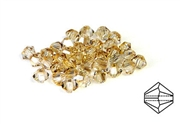 10pc swarovski crystal bicones golden shadow 3mm