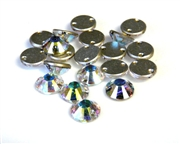 2pc swarovski crystal sew on rounds clear ab 6mm
