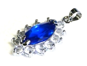 1pc royal pendant crystal silver plated