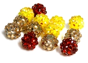 4pc 8mm rhinestone rounds mix red