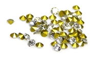 60pc 2 mm rhinestone point back crystals clear