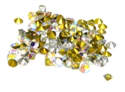 60pc 2 mm rhinestone point back crystals clear AB