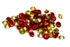 60pc 3mm rhinestone point back crystals red