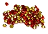 60pc 2 mm rhinestone point back crystals red