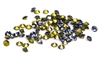 60pc 2 mm rhinestone point back crystals purple
