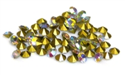 60pc 3mm rhinestone point back crystals clear AB