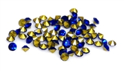 60pc 2 mm rhinestone point back crystals blue