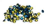 60pc 2 mm rhinestone point back crystals teal