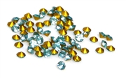 60pc 1.5mm rhinestone point back crystals light blue