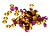20pc 3mm rhinestone point back crystals fuchsia