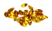 6pc 6x3mm rhinestone point back crystals navette light topaz