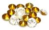 6pc assorted point back rhinestones white & clear  8-10mm