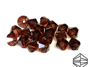 10pc precoscia crystal bicone burgundy 6mm