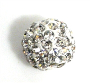 1pc 8mm rhinestone clay round clear crystal