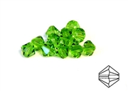10pc crystal bicones peridot green 6mm