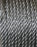 2m 3mm Dacron Cord Metallic Silver