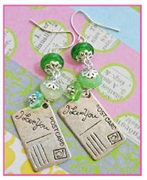 Postcard Earrings Kit as featured in digital beading