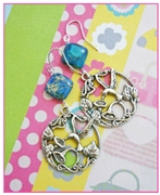 Pretty Sea Sediment Earrings Kit as featured in digital beading