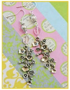 Rosaline blooms Earrings Kit as featured in digital beading