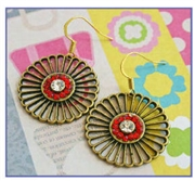 Red Sun Earrings Kit as featured in digital beading