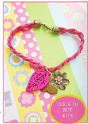 Suede Charm Bracelet Kit as featured in digital beading