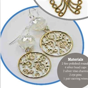Climbing The Vines Earrings Kit  as Featured In Digital Beading