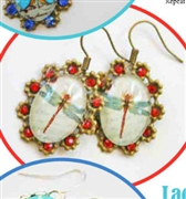 Dragonfly Drop Earrings Kit  as Featured In Digital Beading