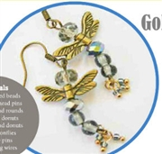 Gold Dragonflies  Earrings Kit  as Featured In Digital Beading