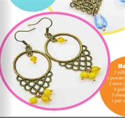 Sunny Drops Earrings Kit as Featured In Digital Beading
