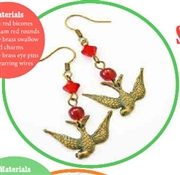 Siam Swallows Earrings Kit as Featured In Digital Beading
