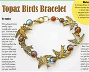Topaz Birds  Bracelet Kit as Featured In Digital Beading