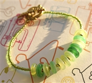 Green Dragonfly Bracelet Kit as Featured in Digital Beading