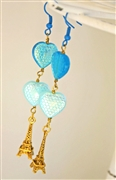 Parisian Blues Earrings Kit - Featured in Digital Beading Australia