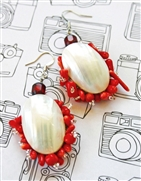 Coral & Shell Statement Earrings Kit - Featured in Digital Beading Australia