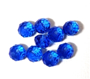 6pc crystal donut Light Sapphire Blue 8mm
