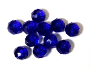 6pc crystal donut Cobalt Blue 8mm