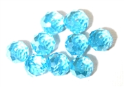 6pc crystal donut Aquamarine AB 10mm