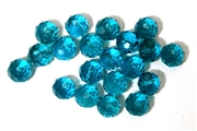 12pc crystal donut Teal Green 6mm
