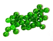 18pc crystal donut Dark Peridot Green 4mm