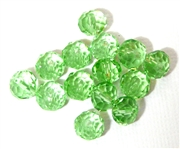 6pc crystal donut Peridot Green 8mm