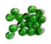 6pc crystal donut Bright Green 8mm